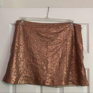 Sequin skirt with zipper detail
